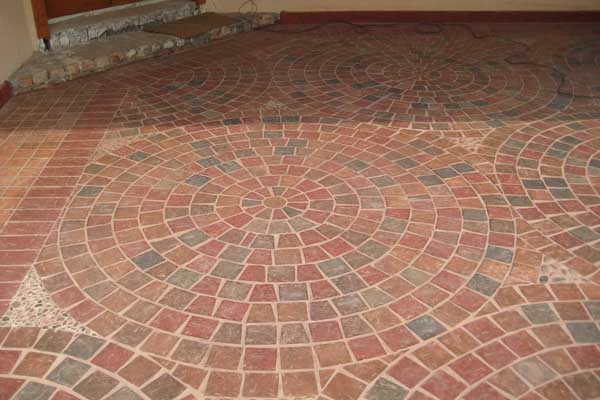 Custom Exterior Tile : Circle paving tiles pak clay tile pakistan