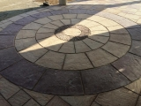 big-circle-concrete-tile-home-driveways-pictures