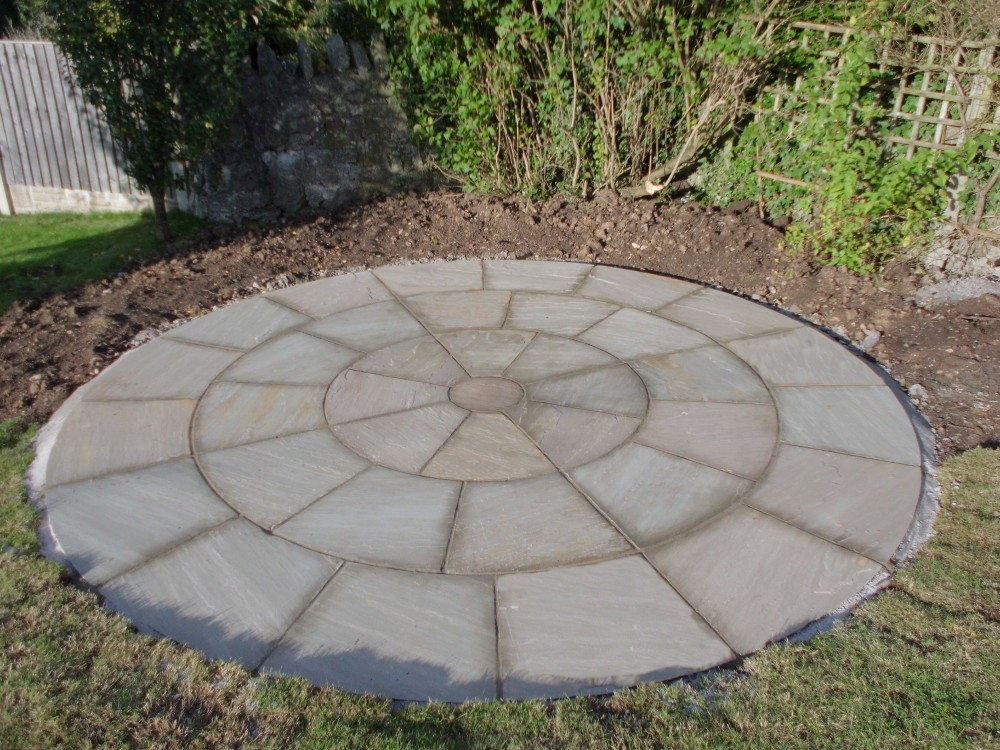 Circle Landscape Paving Tiles Patio Designs Cheap Pavers