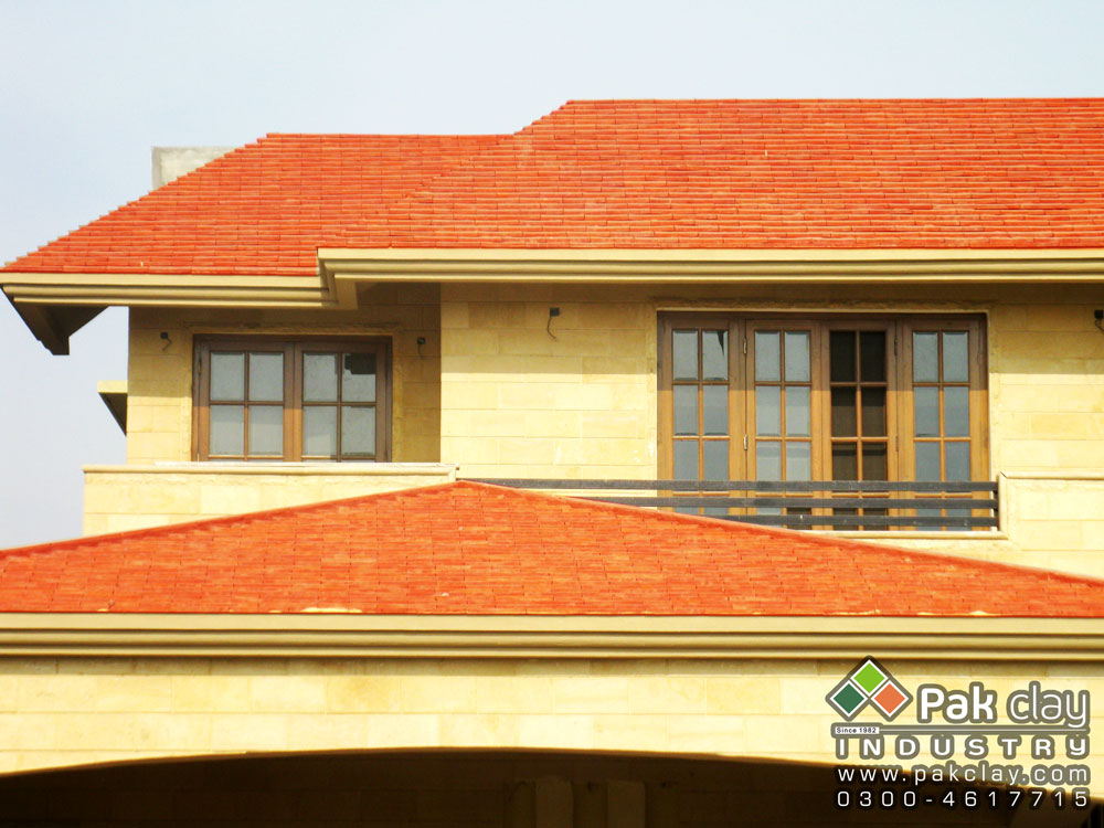 Buy flat plain clay roof tile online shopping pakistan for Buy clay roof tiles online