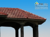 3-french-brown-glazed-tiles-modern-interlocking-clay-roof-tiles-with-a-flat-profile-photo galleries