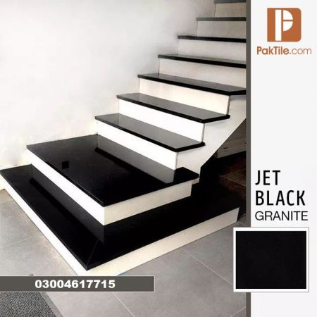 Pak Tiles Stair Step Black Jet Granite Tiles Cost in Karachi