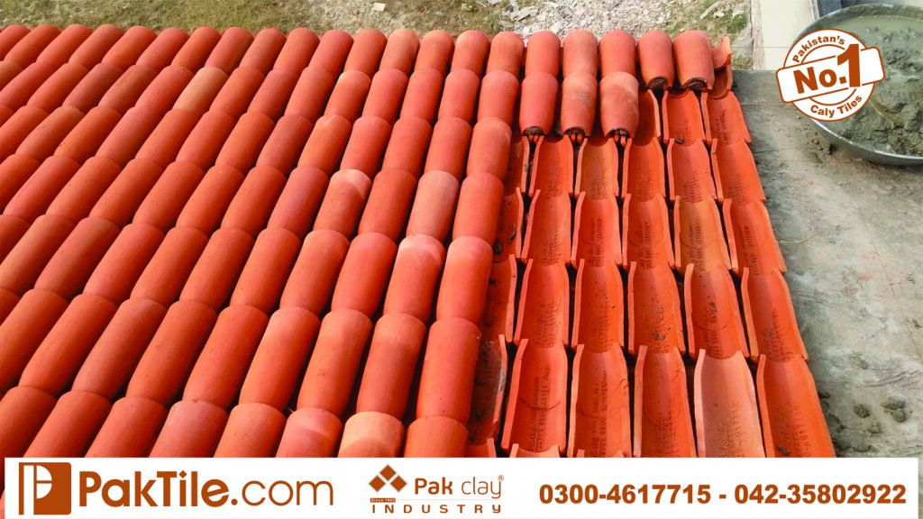 No 1 high quality factory price‎ buy shop online plastic marble look natural red brick ceramic barrel double roof shigles khaprail tiles terracotta material images Lahore Karachi Kpk
