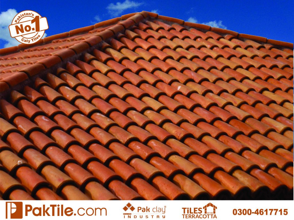 Pak clay industry best home natural red sloping roof canopy shed terrace popular latest khaprail textures hollow bricks tile design pattern company websites images in lahore pakistan