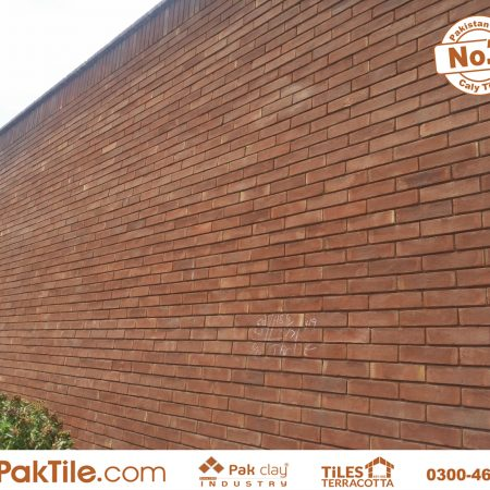 Best Exterior front house boundary wall cladding red gutka bricks pak tiles design factory low price shop supply images in lahore karachi faisalabad pakistan