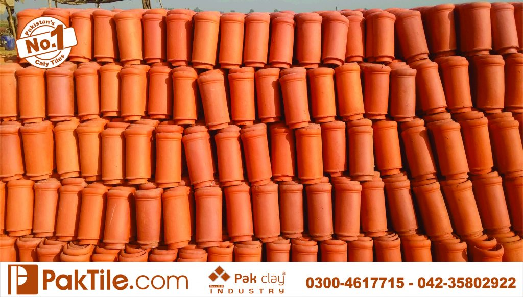 Pak clay best terracotta bricks glazed roof khaprail tiles manufacturer and supplier price rates house design images photos in lahore pakistan pattern texture industry