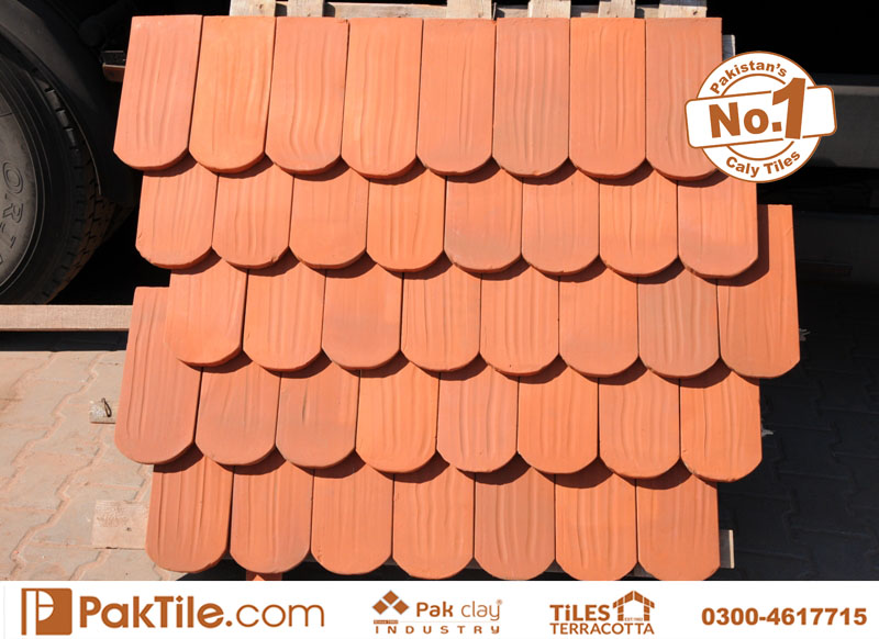 Pak clay industry natural red brick lightweight slate flat plain shingles khaprail roof covering tiles pieces patterns leak repair products discount rates images faisalabad multan
