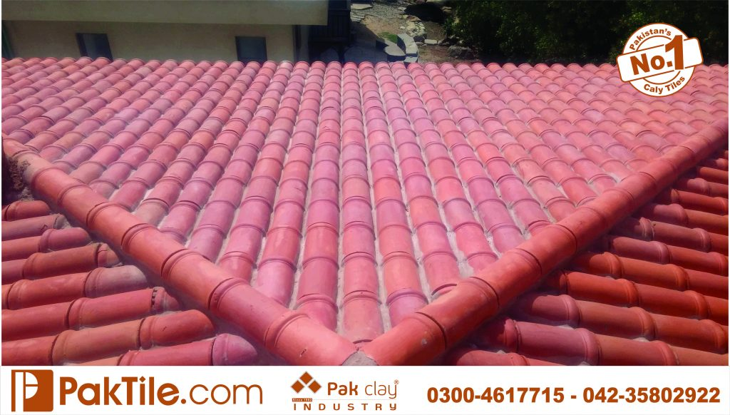 Red heat waterproof insulation Pak clay best bricks glazed roofing khaprail tiles manufacturer and supplier factory outlet stores low price house design images lahore karachi multan kpk pakistan