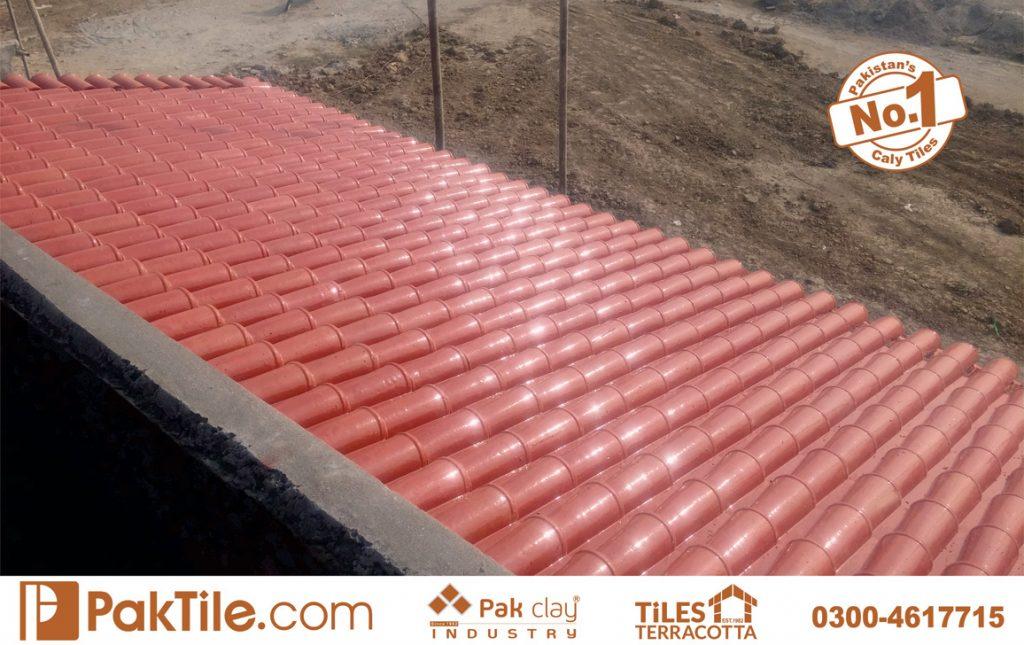 Pak Clay Glazed Ceramic Roof Tiles Khaprail Tiles in Karachi Pakistan Images.