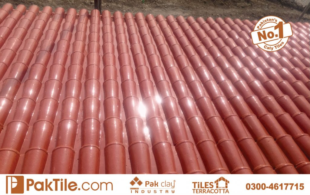 Pak Clay Glazed Roofing Tiles Textures Khaprail Tiles Price Karachi in Pakistan Images.