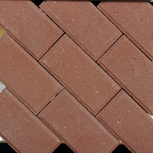 8 red color driveway floor tiles
