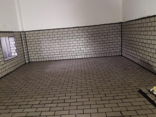 Acid resistant floor tiles battery room