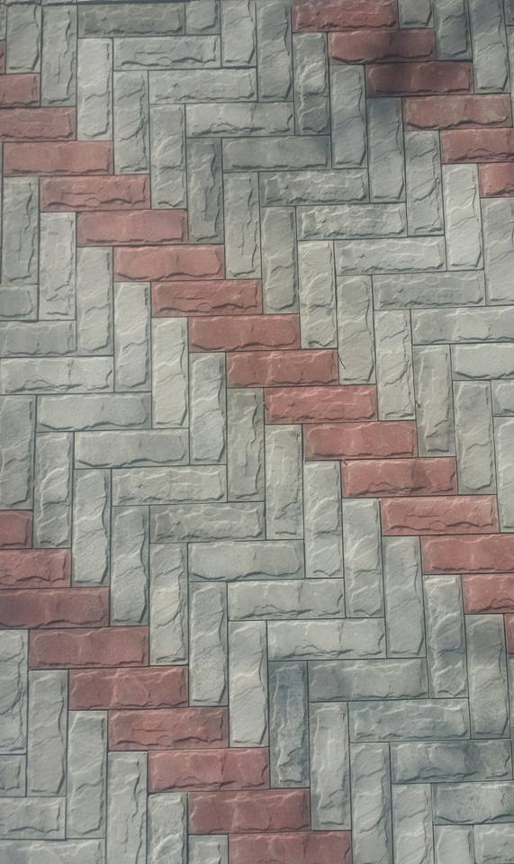 Colors Red and Grey Front Elevation Tiles Price in Pakistan (5)