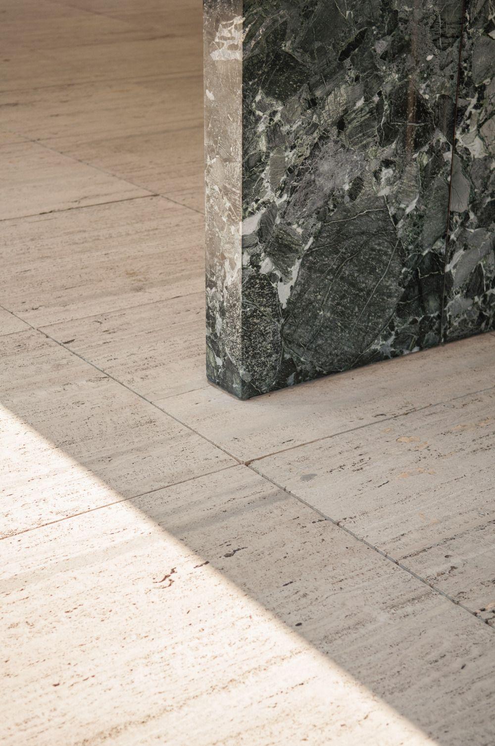 White Colors Travertine Marble Floor Tiles Designs