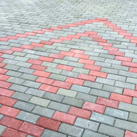 Red and Grey Tuff Tiles Lahore Pakistan