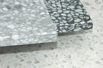Terrazzo floor tiles square designs size 8x8x1 Inch