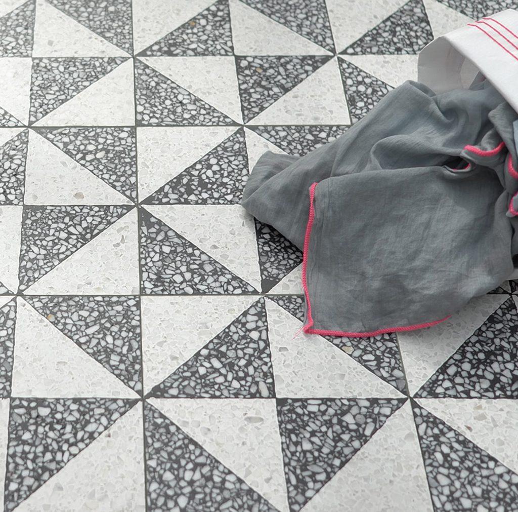 Terrazzo floor tiles textures