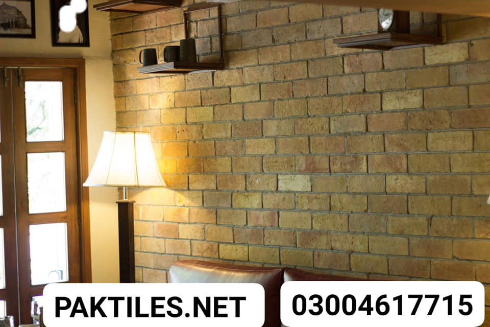 2 Pak Tile yellow bricks wall tiles for living room tv shop lahore