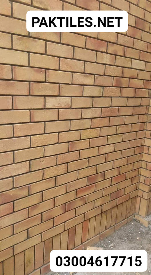 3 Pak Tile natural yellow colour brick style outdoor wall tiles designs in pakistan