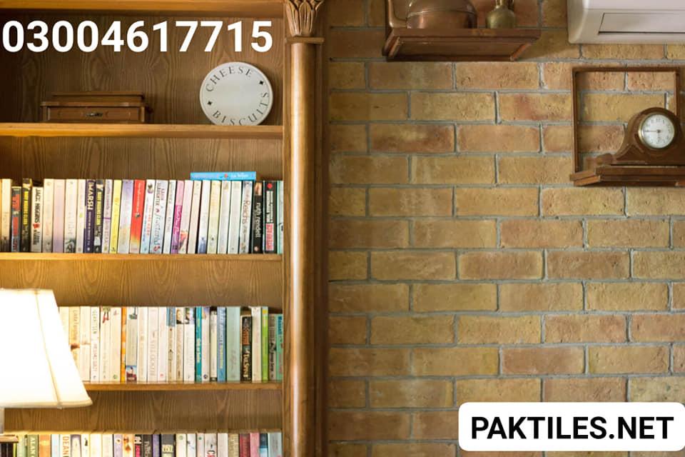 5 Pak Tiles books library racks indoor yellow gutka bricks wall tiles price in pakistan