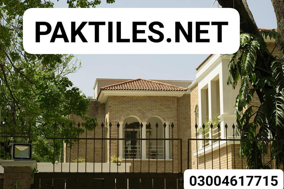 Pak Tile home main gate yellow gutka brick wall front tiles in pakistan