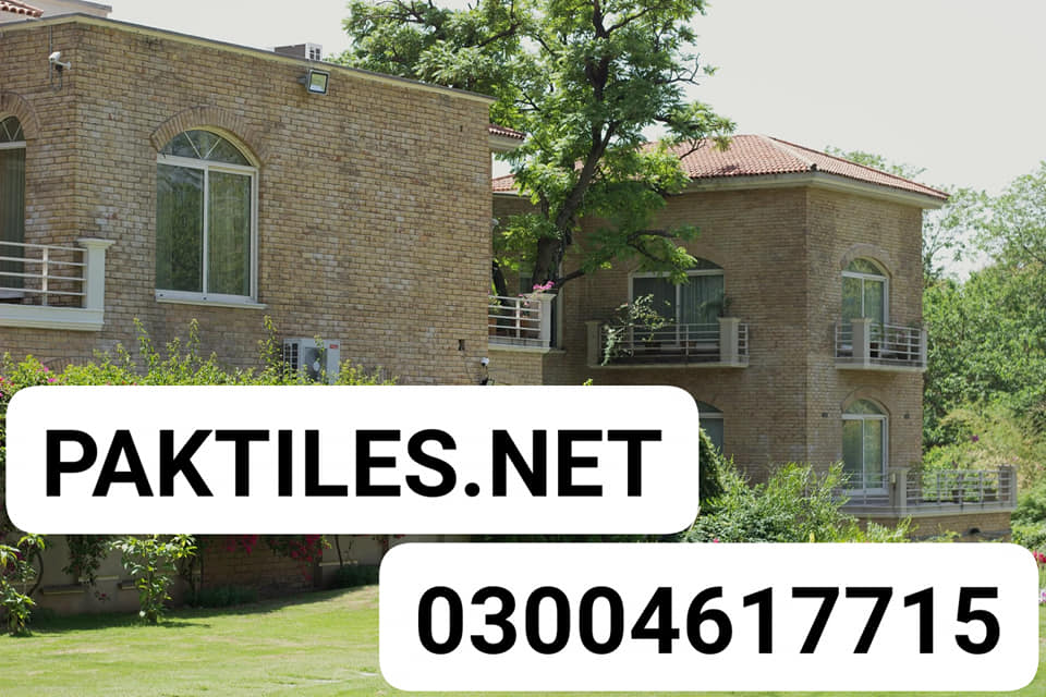 Pak Tile yellow gutka brick house front cladding tiles in lahore