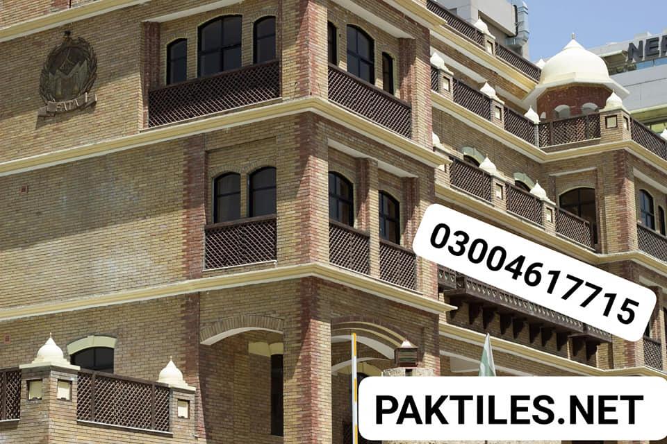 Pak Tile yellow gutka brick outdoor wall tiles design in pakistan
