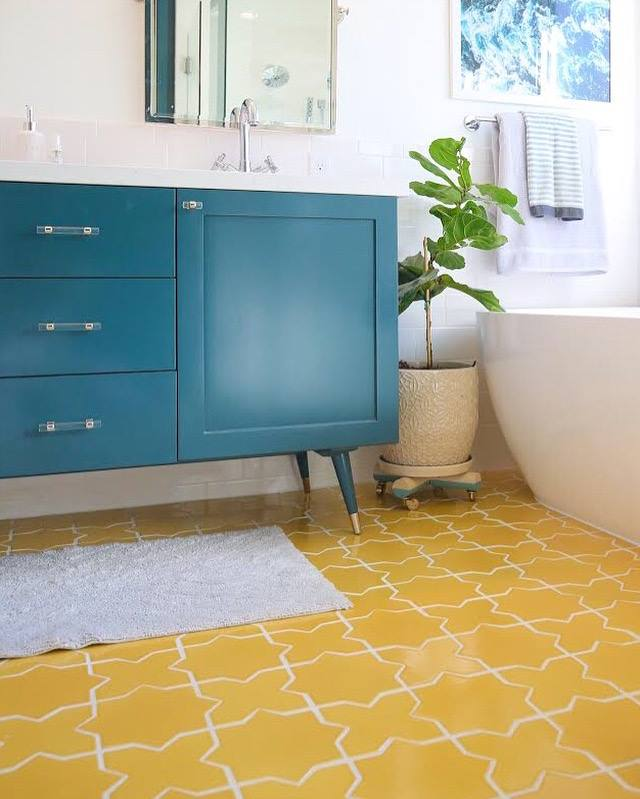 10 Yellow Color Glazed Ceramic Bathroom Tiles