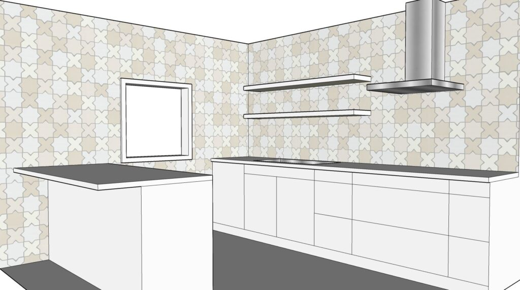 Star and cross ceramic glazed mosaic white kitchen wall tiles