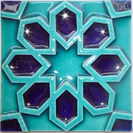 25 Blue 2 Colors Ceramic Mosaic Wall Multani Tiles in Karachi Pakistan