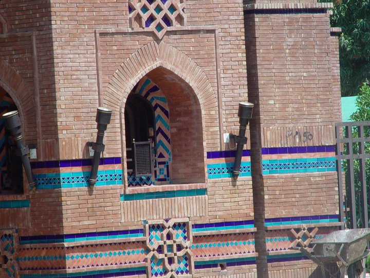 Blue Mosaic Wall Multani Tiles in Pakistan