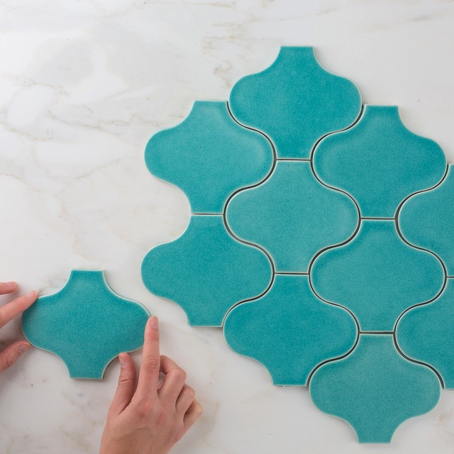 Handmade glazed ceramic mosaic tiles for kitchen and bathroom