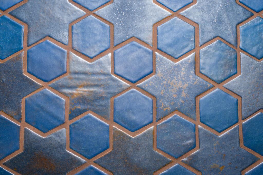1 Ceramic Glazed Blue Multani Tiles For Floors and Walls