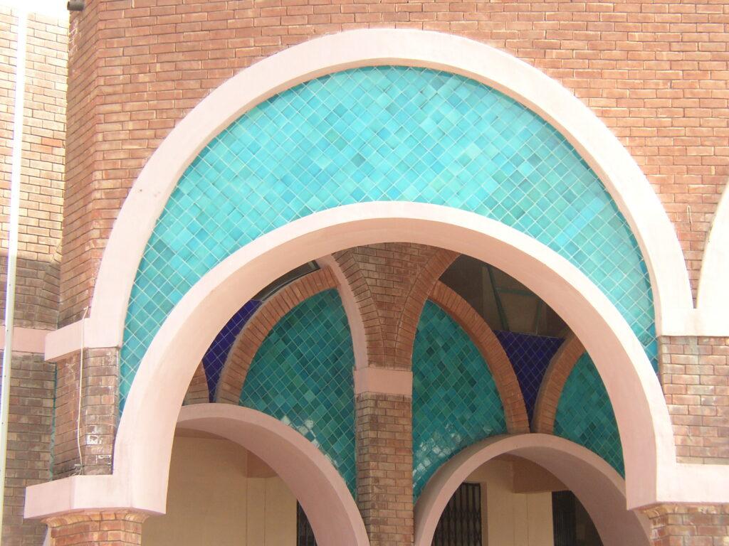 29 Exterior Wall Glazed Ceramic Mosaic Multani Tiles Design in Pakistan