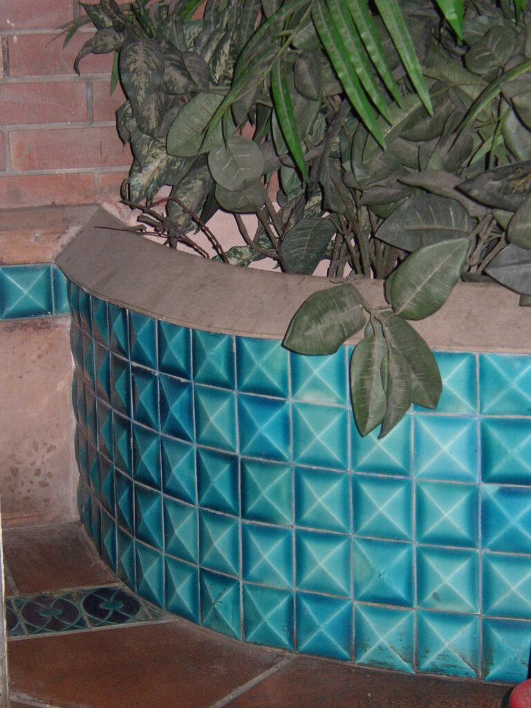 30 Garden Wall Glazed Ceramic Mosaic Blue Multani Tiles Design in Pakistan