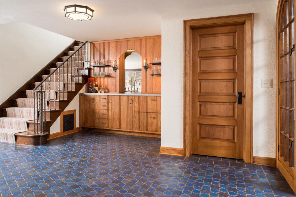 5 Glazed Blue Multani Tiles For Indoor Floors