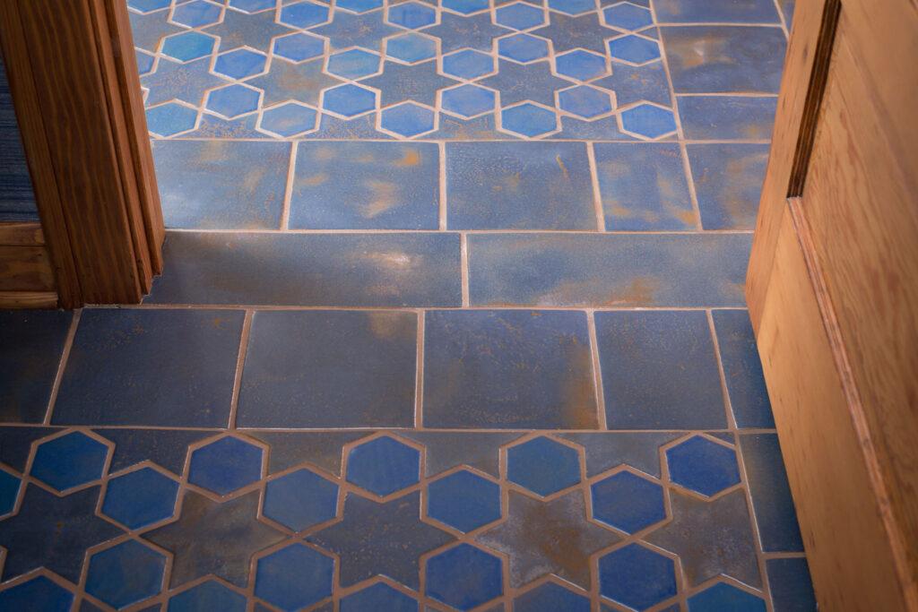 6 Color Glazed Blue Multani Tiles For Indoor Floors
