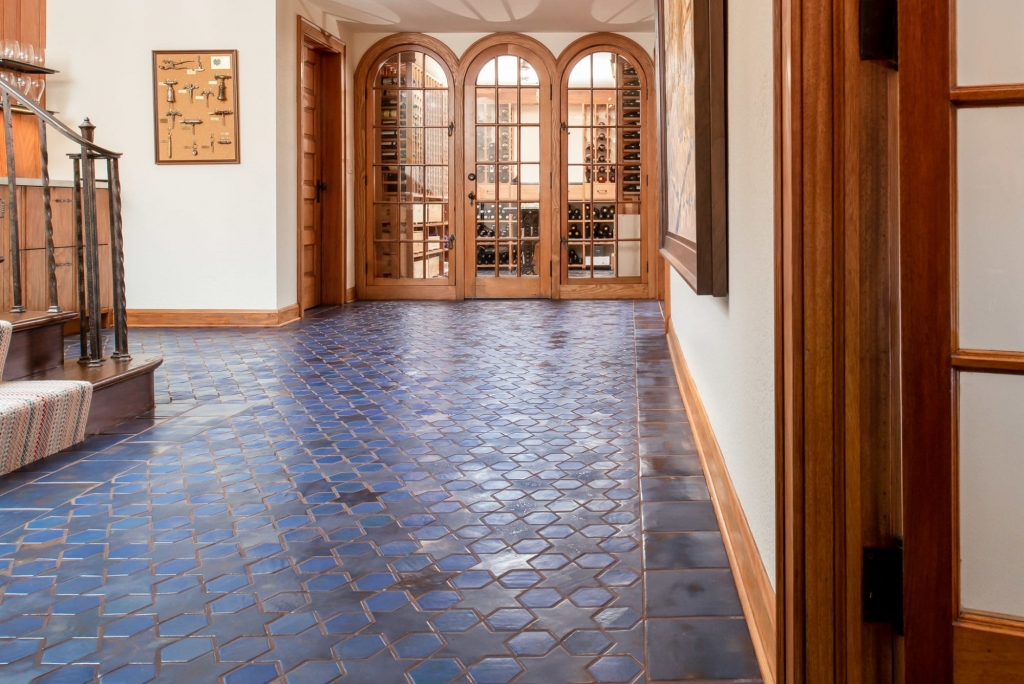 7 Color Glazed Blue Multani Tiles For Indoor Floor