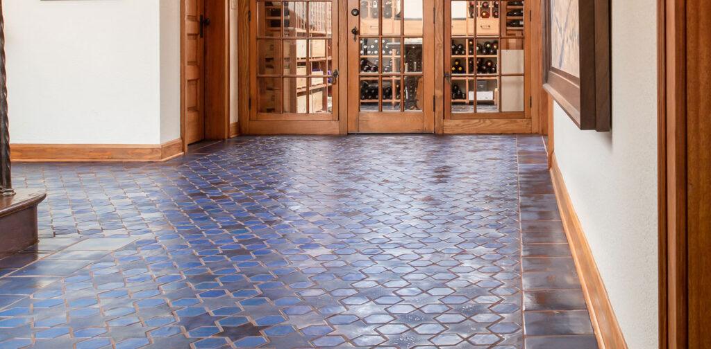8 Colors Glazed Blue Multani Tiles For Interior Floor