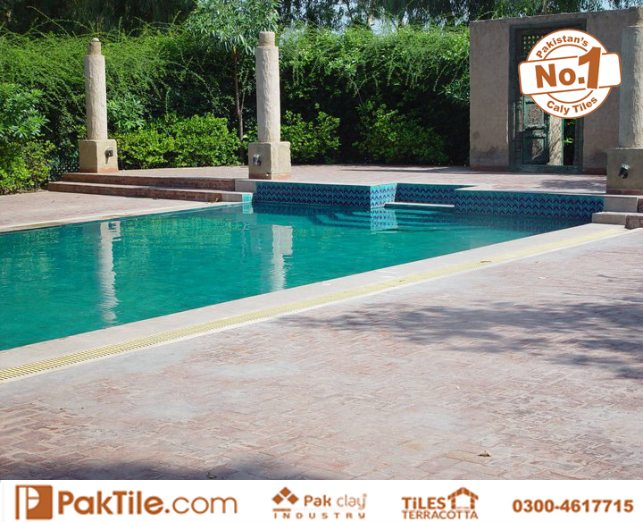 Pak Clay Swimming Pool Tiles Cost in Pakistan Available Size 2x2 inch 3x3 4x4 6x6 inch