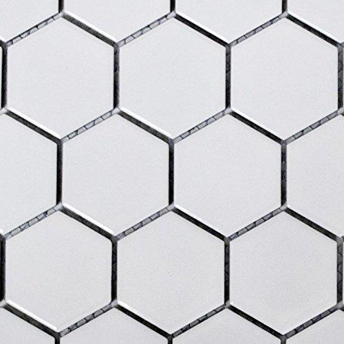 1 White Ceramic Mosaic Bathroom Tiles in Pakistan