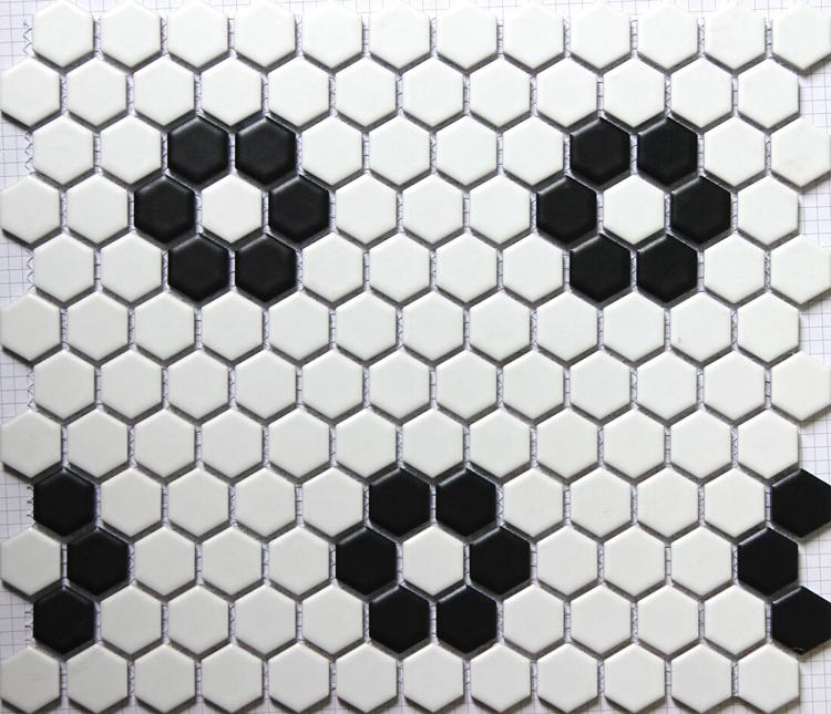 Black Ceramic Mosaic Bathroom Tiles in Pakistan