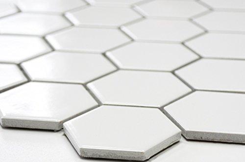 White Ceramic Mosaic Bathroom Tiles in Lahore