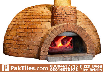 outside build pizza oven fire brick faisalabad