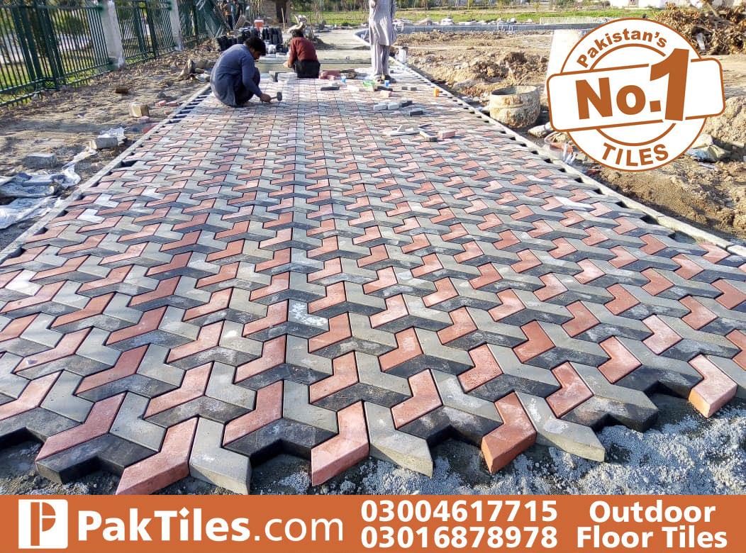 outdoor floor tiles design
