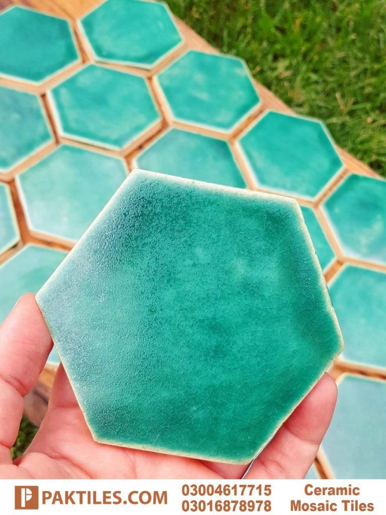 Hexagon Ceramic Outdoor Wall Tiles in Pakistan