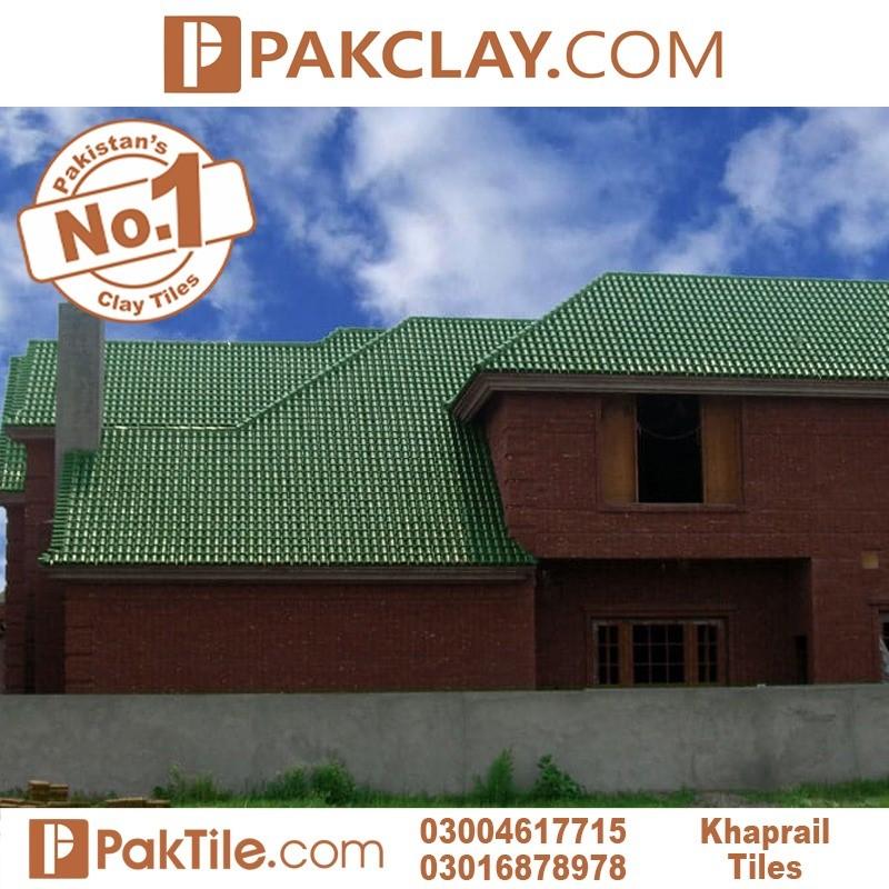 Green glazed kagan khaprail tiles colord roof shingles