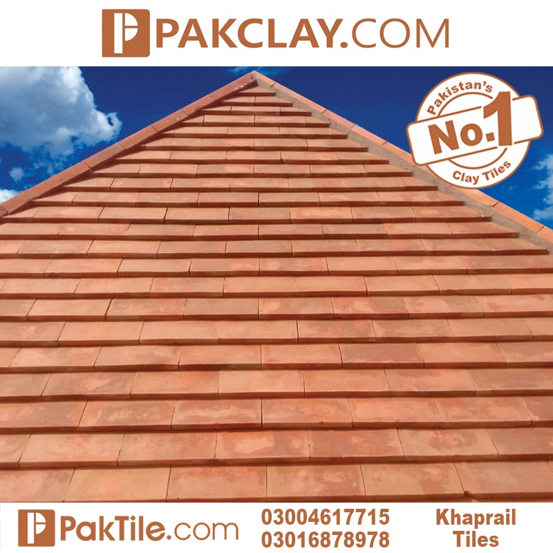 natural clay khaprail tile flat roof tiles