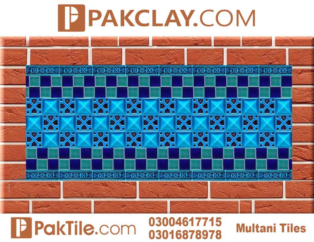 Blue Pak Clay Multani Tiles Design