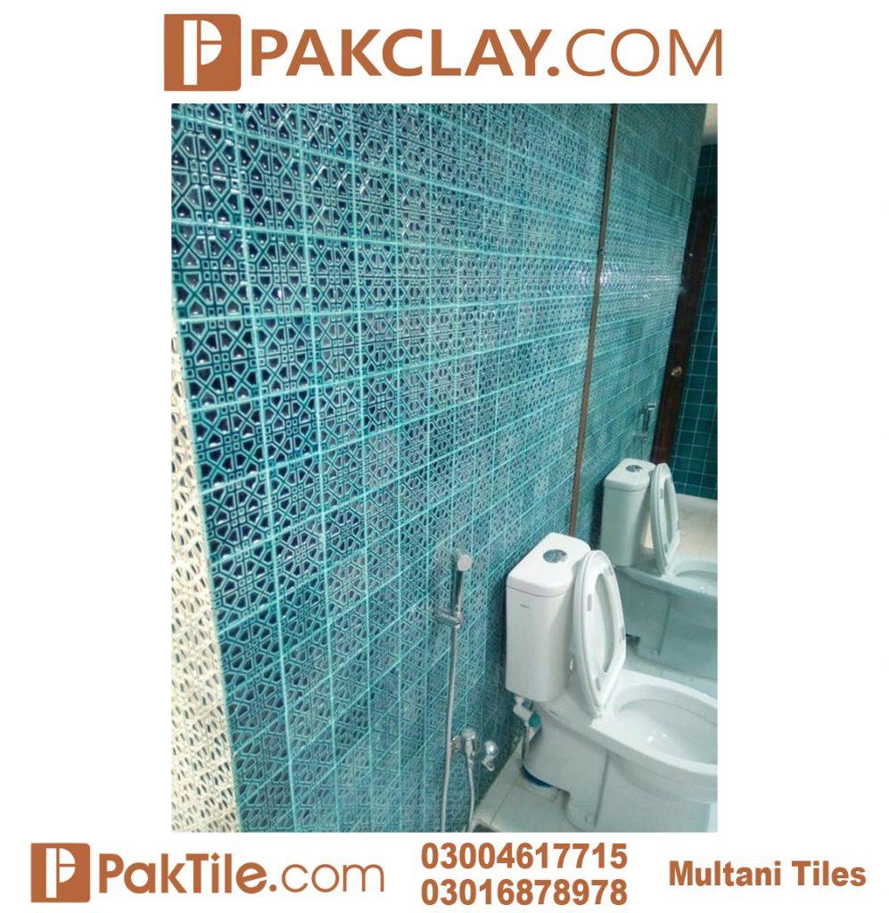 Blue Pak Clay Multani Tiles For Bathroom